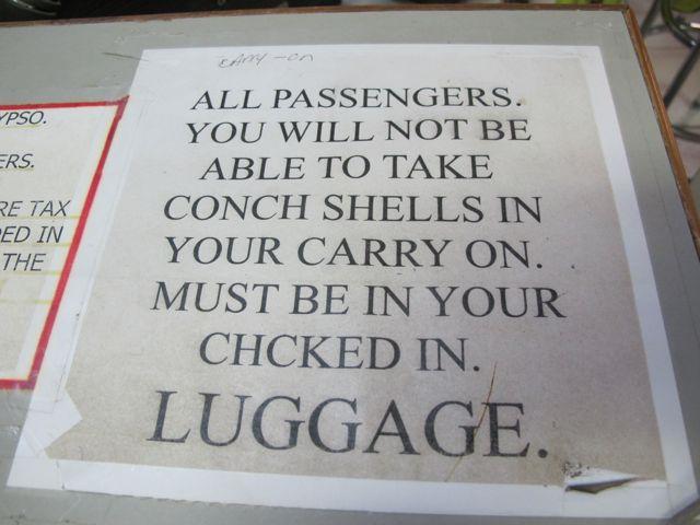 snäckor i bagaget